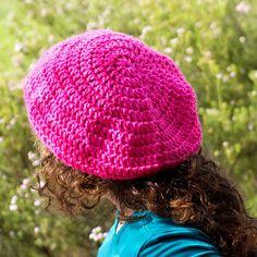 Basic Slouchy Beanie Crochet Pattern {Adult Size} via Hopeful Honey