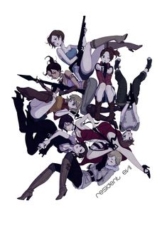 "Ladies Of "" Resident Evil "" ."