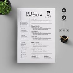 Resume/CV by Reuix Studio on @creativemarket