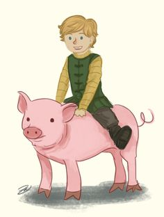 "Ryon Forrester: ""He let me ride one of his pigs once. It was fun!"""