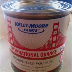 """Kelly-Moore """"International Orange"""", the official paint color of the Golden Gate Bridge issued for its 75th anniversary."""