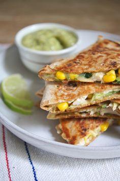 Loaded Chicken Quesadillas with Avocado Salsa