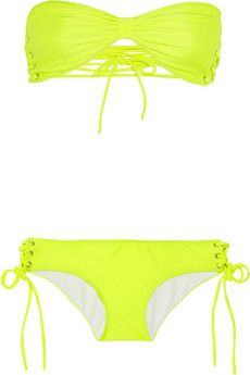 Nicole lace-up bandeau bikini by Shimmi    http://cuphalffull-sf.blogspot.com/#