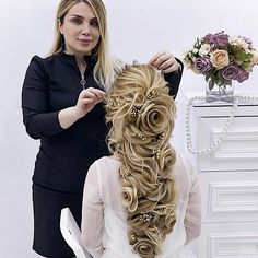 Pin by A Touch of Color Make-up By Sharyn Scully on A Touch of Color Make-up By Sharyn Scully Wedding Hairstyles For Women, Bride Hairstyles, Pretty Hairstyles, Elegant Wedding Hair, Wedding Hair And Makeup, Bridal Hair Inspiration, Hair Upstyles, Lisa Rinna, Pinterest Hair