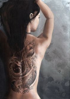 Back Piece Japanese Koi Fish Tattoo Picture 3