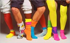 Thanks for the fluro memories. Chris Barton, Homecoming Week, Get Funky, Fashion Socks, Back To The Future, Neon Colors, Ny Times, Crew Socks, Leg Warmers
