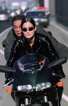 Randall Duk Kim & Carrie-Anne Moss in The Matrix Reloaded