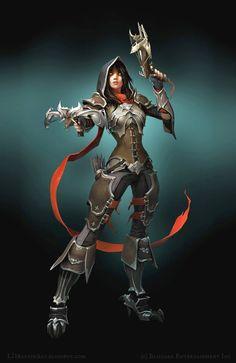 Demon Hunter http://coolvibe.com/wp-content/uploads/2013/11/Video-Game-Art-LD-Austin-Demon-Hunter.jpg