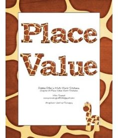 wonderful safari themed Place Value unit with games and boards