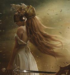 ☆ Celestial Warrior Aurora .:To Defeat Darkness:.  By Artist Carlos Quevedo ☆