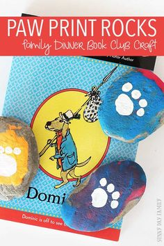 Paw Print Rock Craft For Kids Family Dinner Book Club