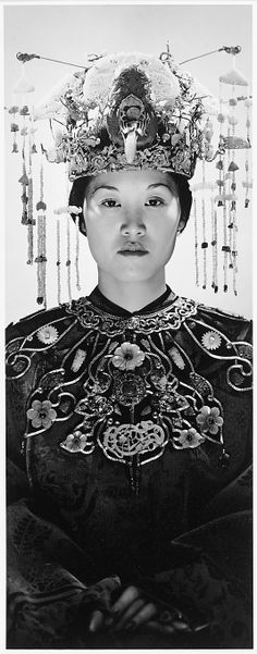 [Model in Chinese Headdress and Costume from the Collection of the Metropolitan Museum of Art]