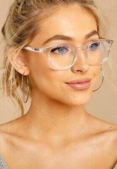 Walk On Blue Light Glasses - Fashion eye glasses - Round Lens Sunglasses, Flat Top Sunglasses, Cute Sunglasses, Sunglasses Women, Sunnies, Glasses Frames Trendy, Fake Glasses, Clear Glasses Frames Women, Ladies Glasses