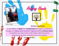 Thank you Steph from Canada Bread who donated all the hotdog and hamburger buns at our recent Helping Hands Charity Bbq!