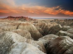Badlands National Park - another great place for scenic vistas and site of one of the craziest vacation stories ever - windows blown into my car during some freak storm.