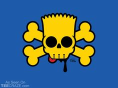 Bart Simpskull T-Shirt Designed by captain ribman  Source: http://teecraze.com/bart-simpskull-t-shirt/