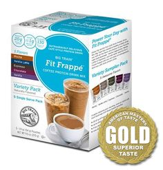 Big Train Fit Frappe is our Gold Medalist for Protein Drink Mixes. They now have this variety sampler pack available so you can try all their delicious flavors. Order it online here: http://www.bigtrain.com/coffee-protein-drink-mix-variety-pack-fit-frappe-single-servings-p-3276.aspx  #BigTrain #GoldMedal #FitFrappe #ProteinDrinkMix