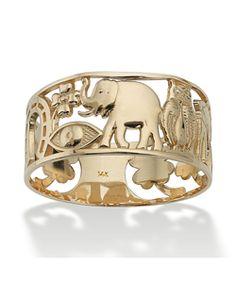 Seta Jewelry Good Luck Ring In 14k Gold