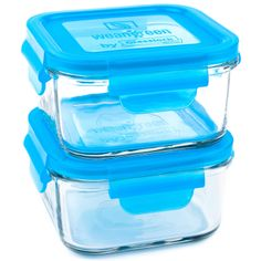 Stylishly, sturdy and so easy-to-use, these reusable tempered glass food containers from Wean Green by Glasslock will make storing food easy and eco-friendly for kids and adults, alike. With brightly coloured BPA-free plastic lids, this set includes two 490-ml cube containers with easy-to-snap open and shut lids. Baby Food Storage, Eco Baby, Glass Containers, Storage Containers, Baby Food Recipes, Homemade Baby Foods, Cubes, Blueberry, Baby Feeding
