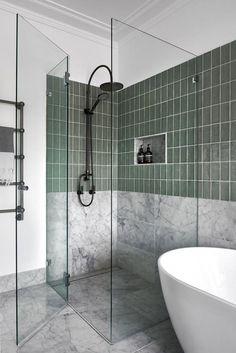 Discover Unique Bathroom Renovation Ideas - All For Remodeling İdeas Dyi Bathroom Remodel, Bathroom Renos, Bathroom Wall Decor, Bathroom Interior Design, Bathroom Renovations, Modern Bathroom, Home Remodeling, Green Bathrooms, Bathroom Ideas