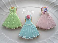 ドレスのアイシングクッキー|Story sugar art |Ameba (アメーバ)