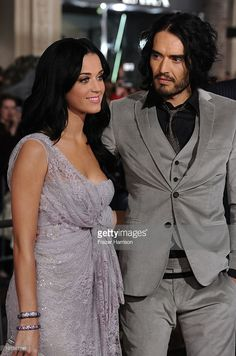 Singer Katy Perry and actor Russell Brand arrive at the premiere of Touchstone Pictures and Miramax Films' 'The Tempest' at the El Capitan Theatre on December 6, 2010 in Los Angeles, California.