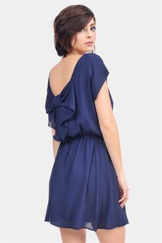 OH MY ADORABLE. Simple dress with a BOW ON THE BACK! :D