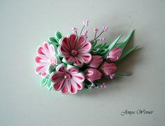 Haarspange  Kanzashi von Broot auf DaWanda.com