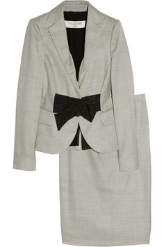 VALENTINO ROMA  Wool-blend woven skirt suit