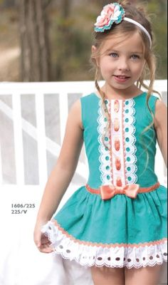The color and hemline are super. Little Dresses, Little Girl Dresses, Cute Dresses, Girls Dresses, Flower Girl Dresses, Toddler Dress, Baby Dress, Toddler Girl, Dress Girl
