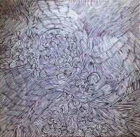 "F. Polenghi, ""K113"", 2009, oil on canvas, cm 69 x 69."
