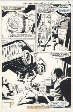 Captain Action #1, page 6 Comic Art