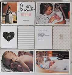 Love how she used Midnight for her baby pages!! Gorgeous!!