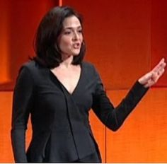 Sheryl Sandberg, COO of Facebook [Incidentally, the video from her TED talk is incredibly inspirational and she is wearing one of the greatest suits of all time, as well.]
