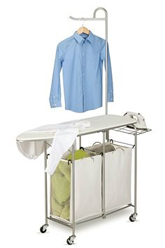 $80 Amazon.com: Honey-Can-Do Rolling Laundry Sorter with Ironing Board and Shirt Hanger: Home & Kitchen