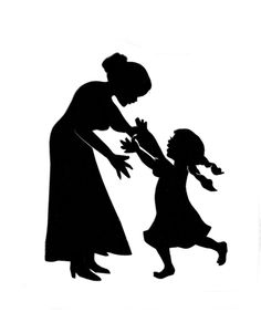 mothers and child silhouette - Google Search