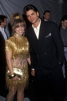 The most outrageous outfits in Grammys history: Paula Abdul and John Stamos, 1990