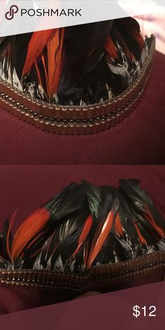 Bebe Feather headband Bought for a music festival didn't wear bebe Accessories Hair Accessories