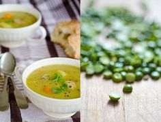 Split Pea Soup is simple and filling. The recipe in Soup for You is vegetarian, but offers tips for the carnivores out there.
