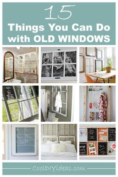15 Creative Ways To Repurpose and Reuse Old Windows #Repurposing #RepurposedWindows