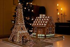 Hämmentäjä: Vinkkejä piparkakkutalon rakentamiseen Gingerbread house Piparkakkutalo Eiffel tower