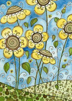 Granola Bar Original Watercolor Painting.