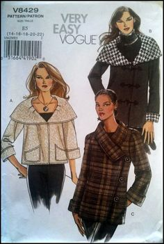 Very Easy Very Vogue V8429  Misses' Jacket  by ThePatternShopp, $18.00