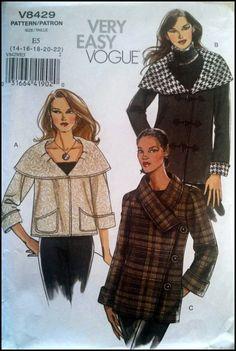 Very Easy Very Vogue V8429  Misses' Jacket  by ThePatternShopp, $18.00