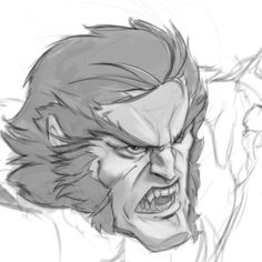Sabretooth sketch done today, it was about time to do something Marvel. #marvel #comics #digitalcomics #sketch #xmen #fanart #ilustration #flamalamastudio