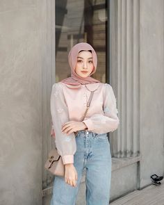 Ootd Hijab, Hijab Outfit, Hijabi Girl, My Baby Girl, Hijab Fashion, What To Wear, Poses, Photo And Video, Skirt