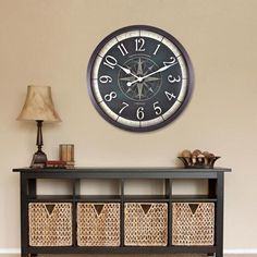 FirsTime 24 in. Compass Rose Wall Clock