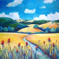 Contemporary paintings by artist Stephanie Maclean Landscape Art, Landscape Paintings, Acrylic Painting Inspiration, Plastic Art, Totem Poles, Drawing For Kids, Contemporary Paintings, Rock Art, Art Tutorials