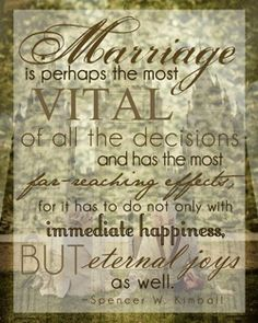 Marriage is perhaps the most VITAL of all decisions and has the most far reaching effects for it has to do not only with immediate happiness BUT eternal joys as well. Description from trendvee.com. I searched for this on bing.com/images