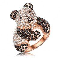 Venta al por mayor bonito Panda en forma de anillos de compromiso With18K en oro…